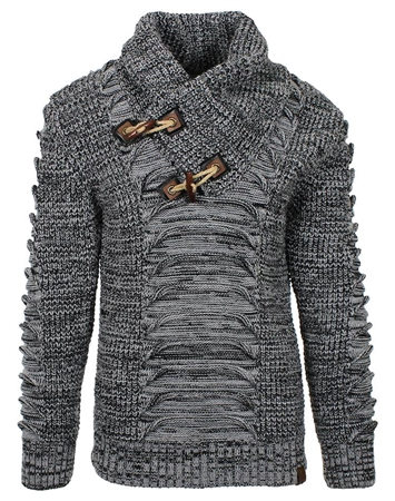 Charred Grey Designer Men's Sweater