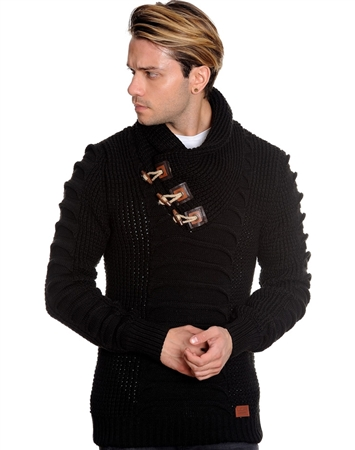 Midnight Black Men's Fashion Sweater