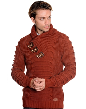 Stylish Cinnamon-colored Fashion Sweater