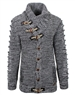 Designer Charcoal Grey Men's Sweater