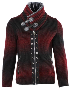 Fashion-Forward Burgundy Sweater