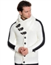 Modern Men's Fashion Cardigan Sweater White