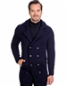 Navy Men's knit Cardigan sweater