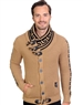 Tan And Black Men's knit sweater