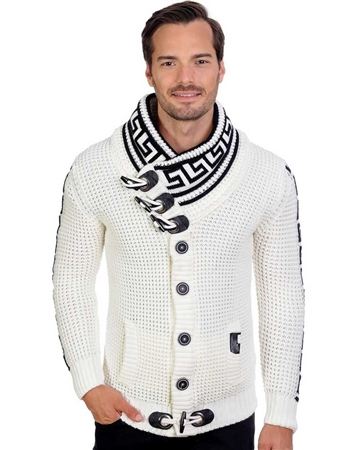 White  And Black Men's knit sweater