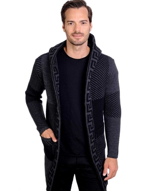 Smoke And Black Men's knit Cardigan sweater
