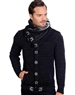 Black And Smoke Men's knit Cardigan sweater