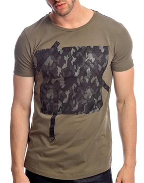 Shop Men's Fashion T-Shirts - Khaki T-Shirt