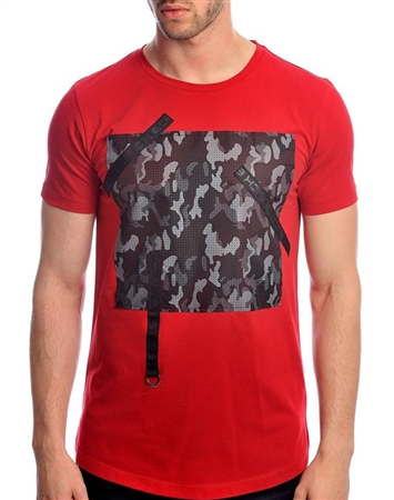 Fashionable Red Short Sleeve T-Shirt