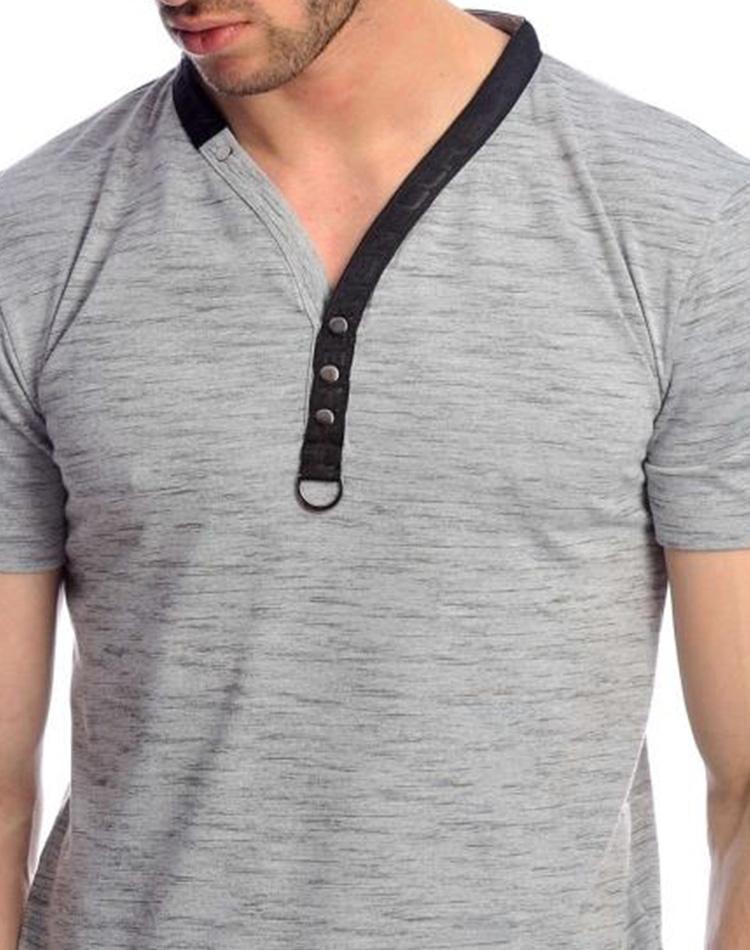 6d756120158 Gray Fashion T-Shirt