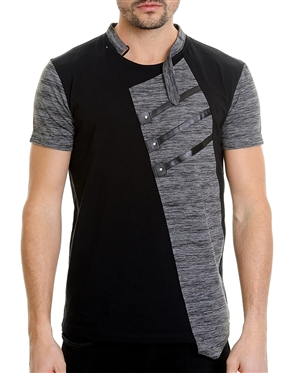 Fashionable Men's T-Shirt - Apollo Black