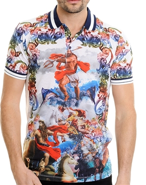 Fashionable Men's Polo - Olympus Multi