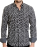 Floral Pattern Black Shirt - Men Casual Shirt