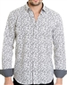 Pattern White Shirt - Men Casual Shirt