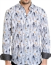 Grey Paint Pattern Shirt - Men Casual Shirt
