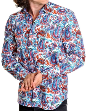 Multicolored Paisley Dress Shirt