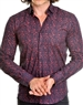 Burgundy Vine Print dress shirt