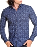 Designer Navy Vine Dress Shirt