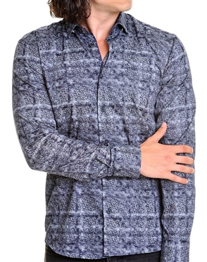 Unique Black Grey Check Woven