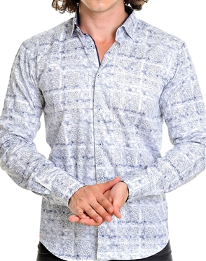 Designer White Mens dress shirt