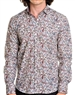 Bold paisely print multi colored dress shirt