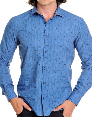 Shop Men- Blue Multi Color Shirt
