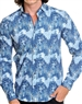 Hip new blue designer dress shirt