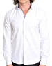 Men White Casual Shirt With Blue Accent