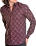 Men Designer Wine Color Shirt