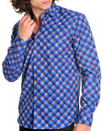 blue multi mens fashion shirt