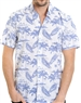 White Paradise Pattern Shirt - Luxury Short Sleeve Woven