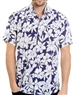 Navy Floral Pattern Shirt - Luxury Short Sleeve Woven