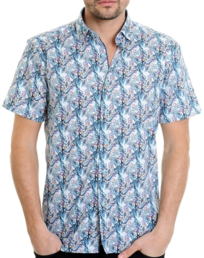 Multi-Colored Geometrical Pattern Shirt - Men Casual Shirt