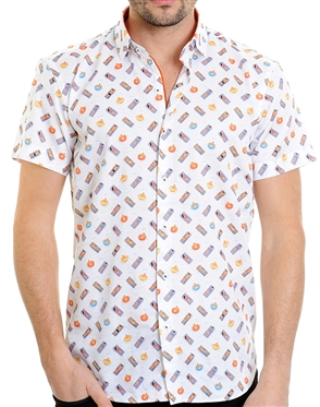 Multi Beach Pattern Shirt - Men Casual Shirt