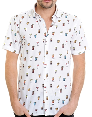 Multi Cocktail Pattern Shirt - Men Casual Shirt