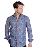 Abstract Paisley Print Dress Shirt - Men Casual Shirt