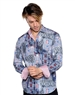 Geometrical Cultural Print Pattern Shirt - Men Casual Shirt