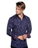 Navy Floral Dress Shirt - Luxury Sport Shirt