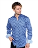 Abstract Multicolored Dress Shirt - Men Casual Shirt