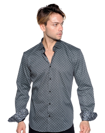Black And White Floral Shirt - Men Casual Shirt