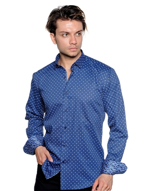 Dotted Pattern Shirt - Men Casual Shirt