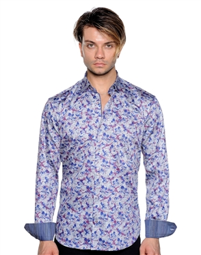 Fashionable Mens Shirt - Multicolored Button Down