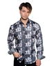 Dark Gray Abstract Pattern Shirt - Men Casual Shirt