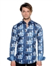 Abstract Patterned Luxury Sport Shirt