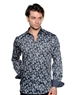 Smokey Black Print Dress Shirt - Luxury Sport Shirt