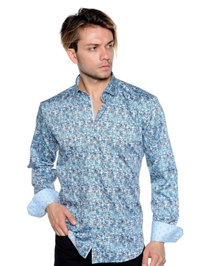Abstract Multi-Colored Dress Shirt