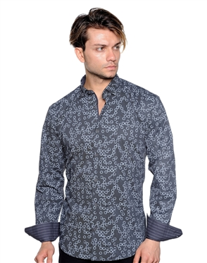 Black Circle Dot Dress Shirt