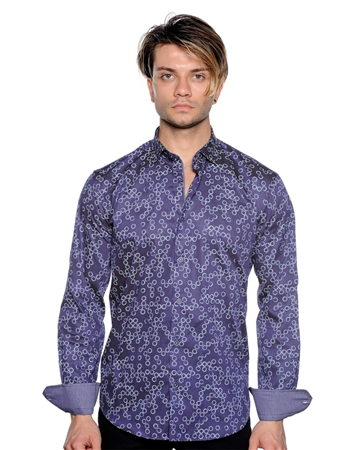 Purple Circle Dot Dress Shirt