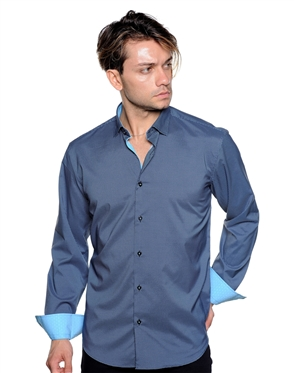 Black Aqua Diamond Check Shirt