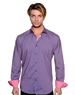 Navy Pink Block Repeat Dress Shirt